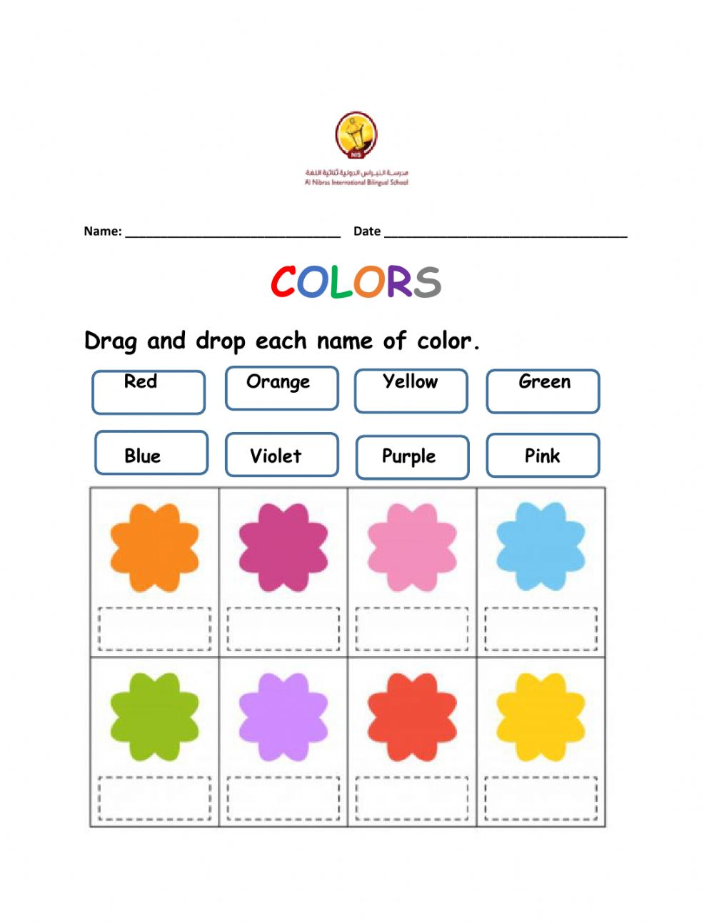 medium resolution of Colors online exercise for Grade 1