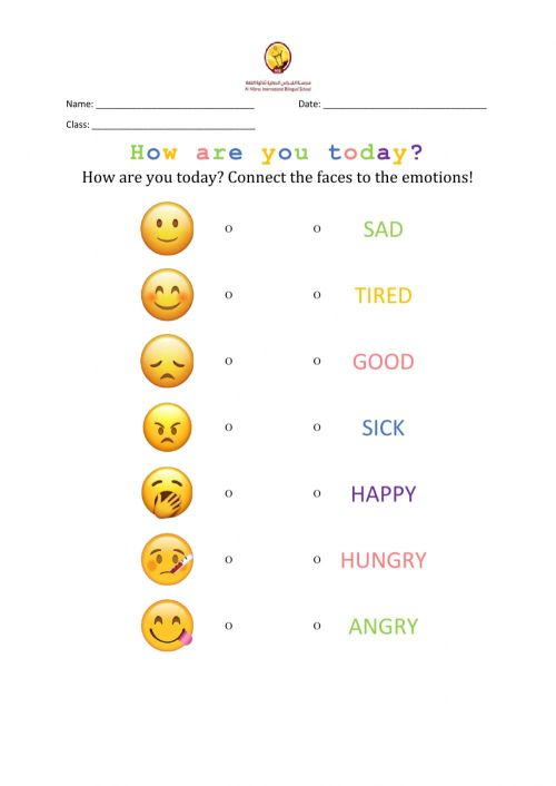 small resolution of Feelings online exercise for Grade 1