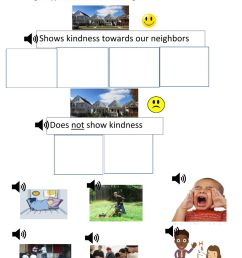 How to show kindness to a neighbor worksheet [ 1291 x 1000 Pixel ]