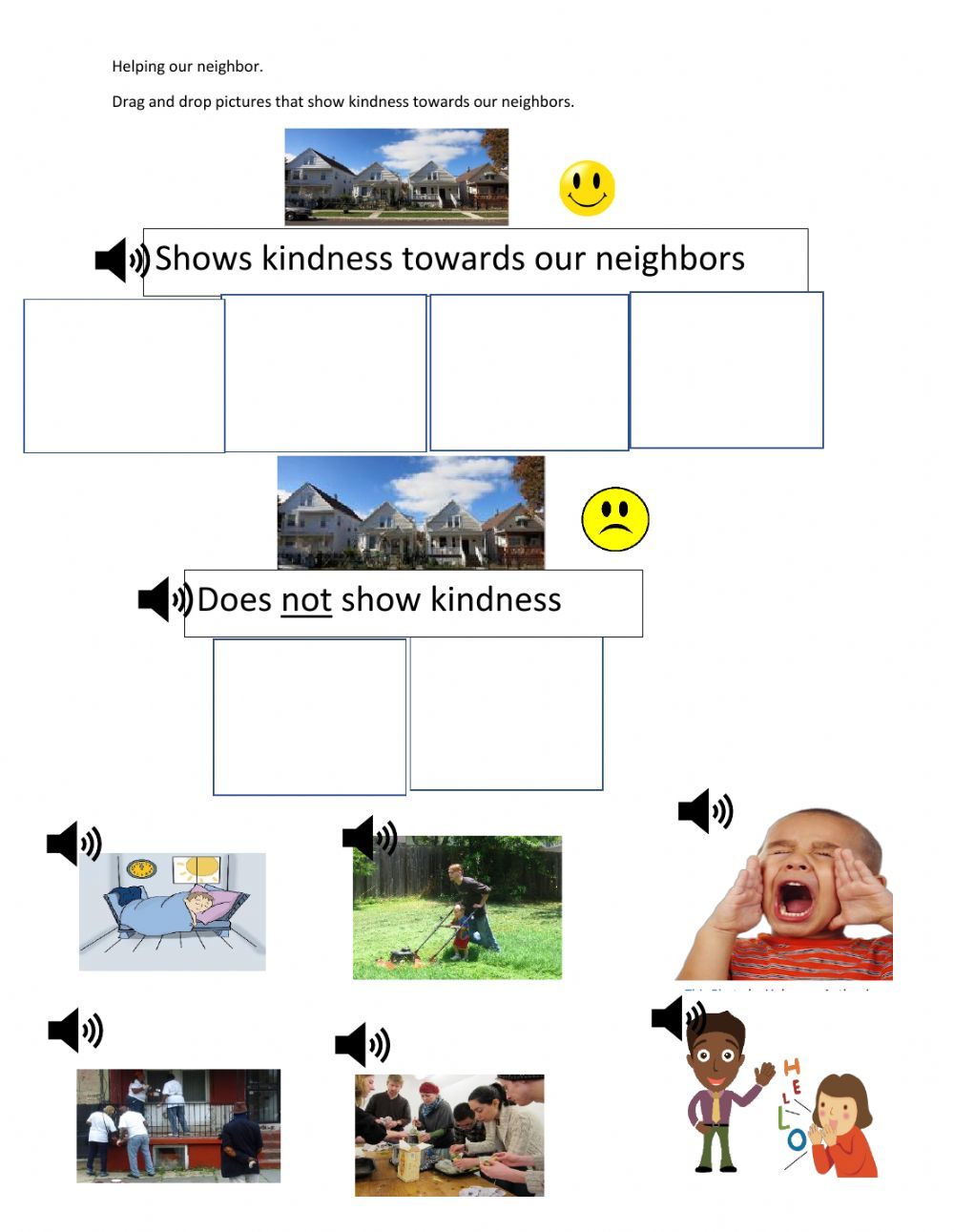hight resolution of How to show kindness to a neighbor worksheet