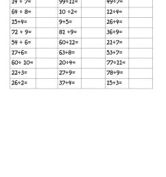 Division with and without remainders worksheet [ 1413 x 1000 Pixel ]