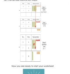 Subtractions with regrouping interactive worksheet [ 1584 x 1000 Pixel ]