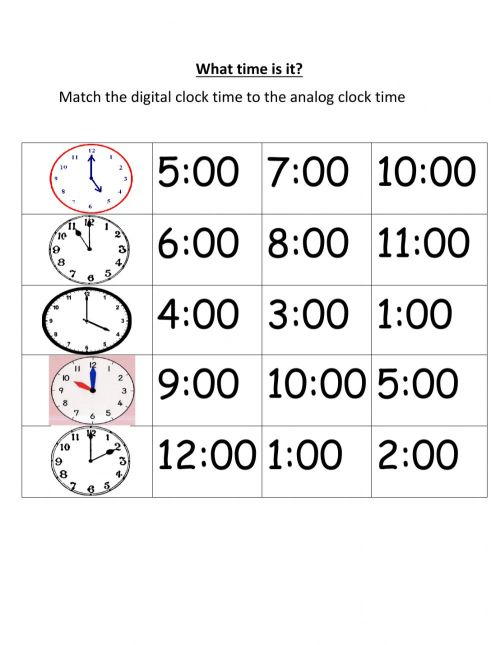 small resolution of Matching time exercise
