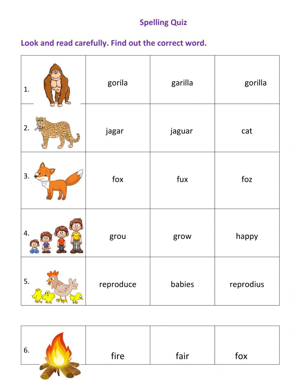 hight resolution of Spelling interactive exercise for grade 1