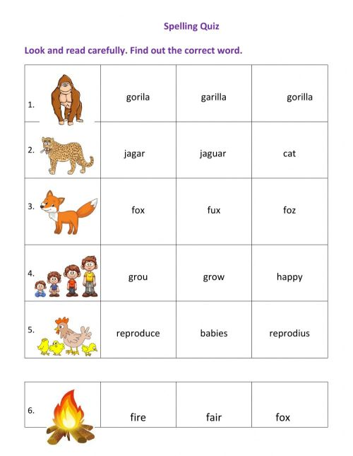 small resolution of Spelling interactive exercise for grade 1