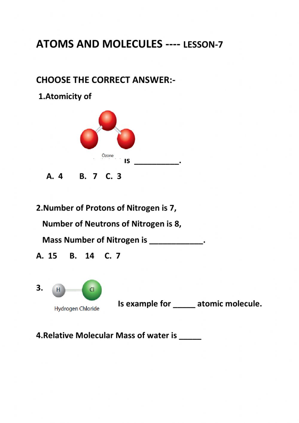 hight resolution of Atoms and molecules interactive worksheet