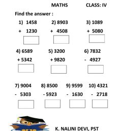 4 digit addition and subtraction worksheet [ 1413 x 1000 Pixel ]