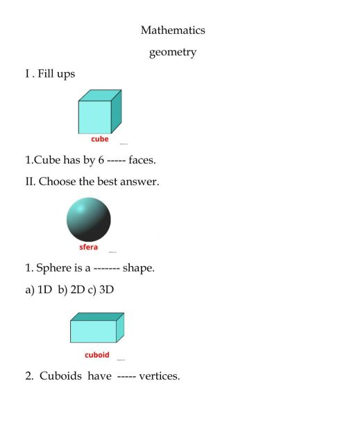 small resolution of Geometry interactive worksheet for grade 5