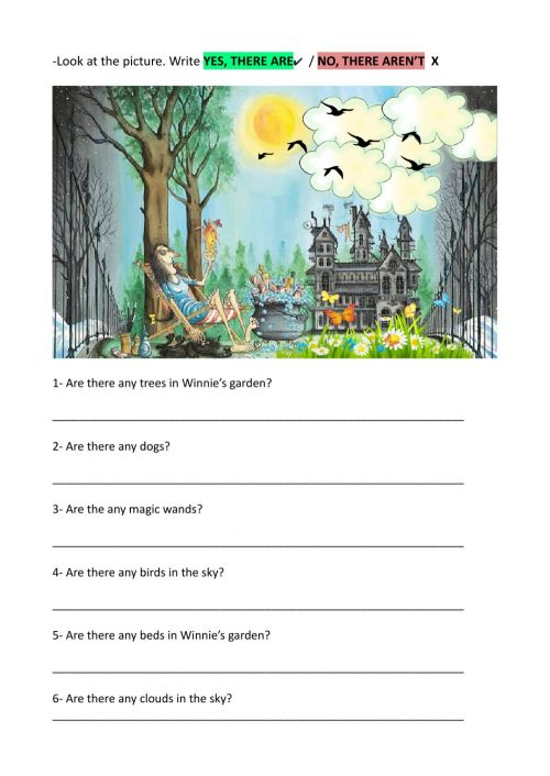 small resolution of There is- There are worksheet for 3rd grade
