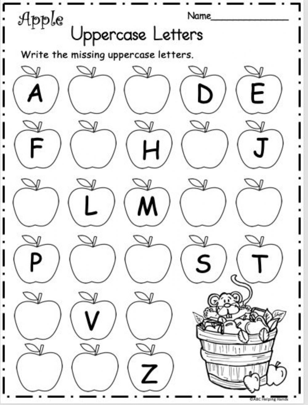 hight resolution of ABC-apples worksheet