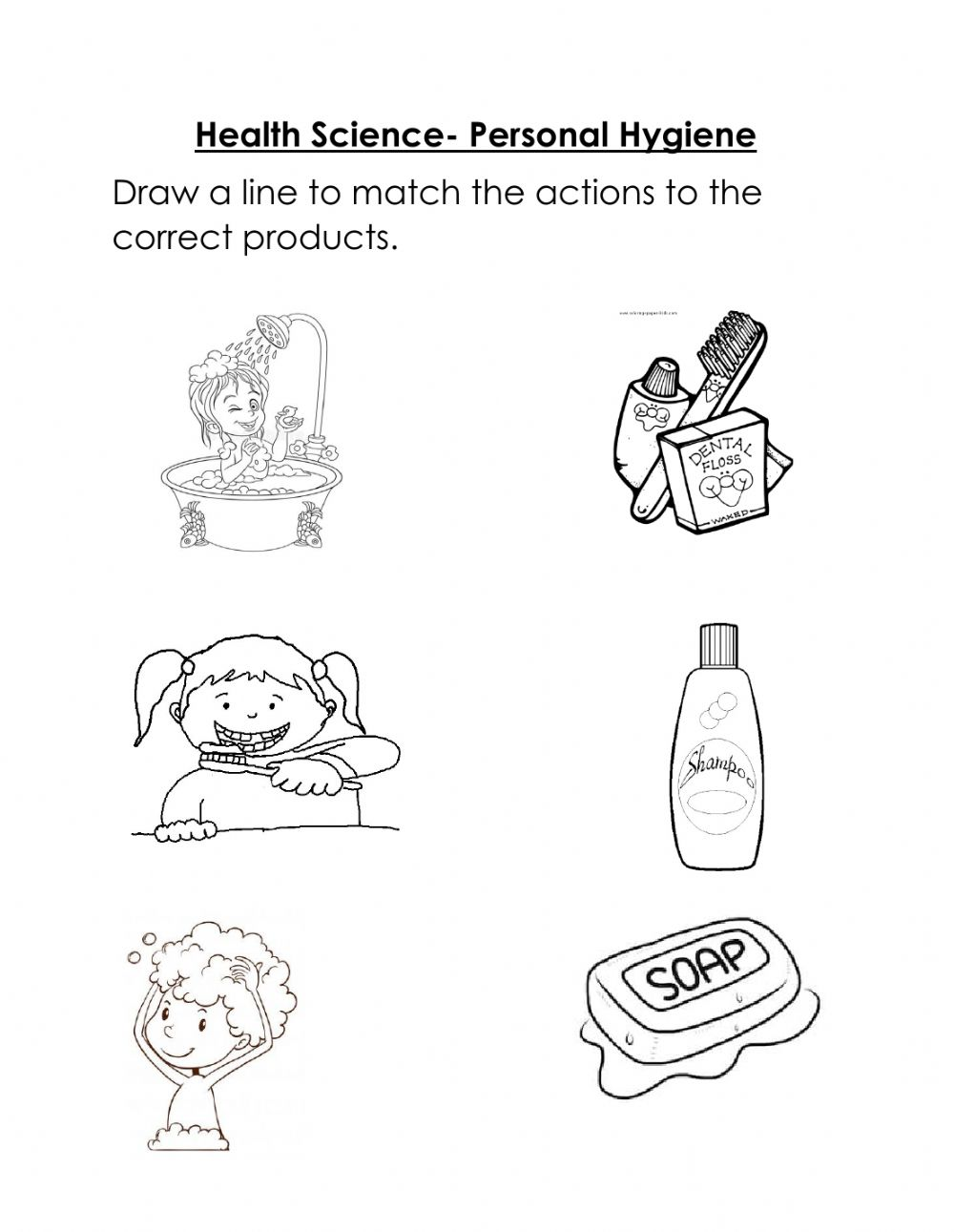 hight resolution of Personal Hygiene exercise for Kindergarten