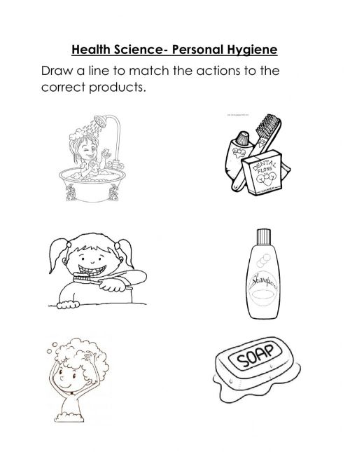 small resolution of Personal Hygiene exercise for Kindergarten