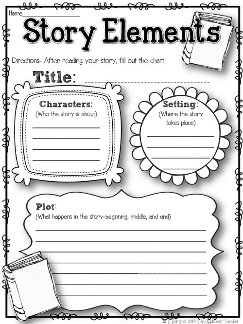small resolution of Story Elements worksheet for 2nd Grade