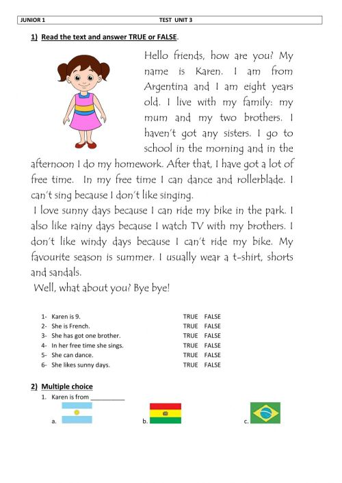 small resolution of Free time worksheet for Grade 1