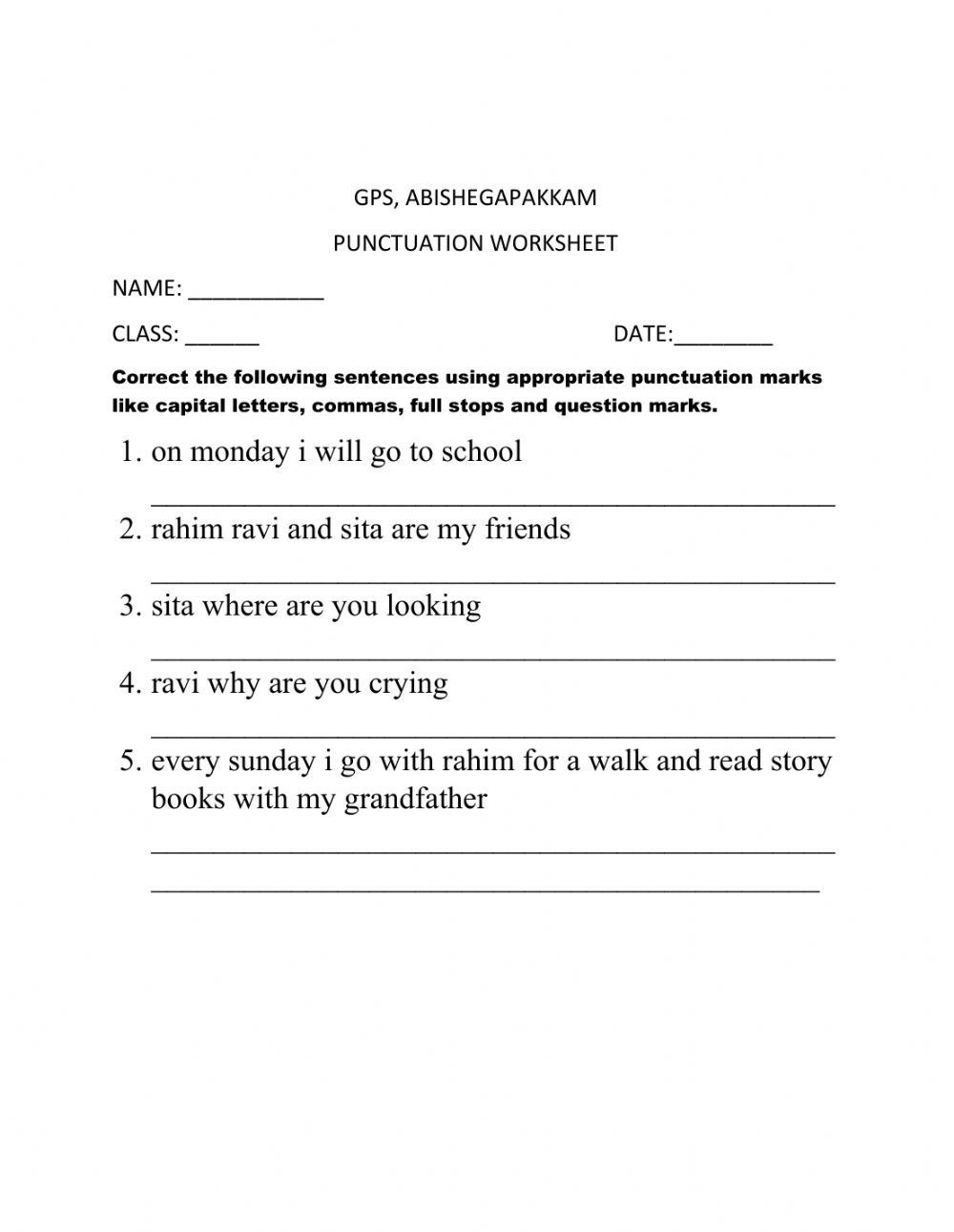 hight resolution of Punctuation zsciencez worksheet