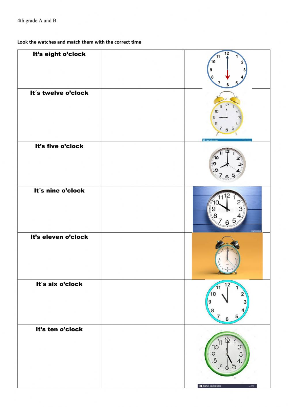 medium resolution of The Time interactive worksheet for grade 4