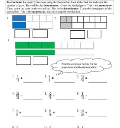 Simplifying Fractions Grade 4 worksheet [ 1291 x 1000 Pixel ]