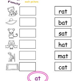 At word family interactive worksheet [ 1291 x 1000 Pixel ]