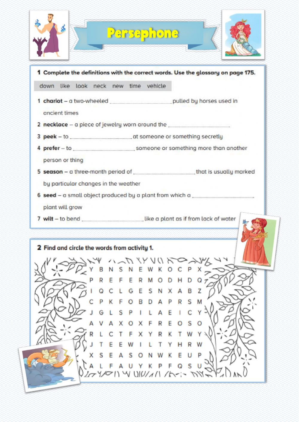medium resolution of Persephone: Vocabulary and Reading Comprehension worksheet