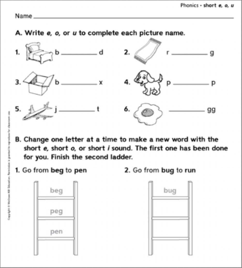 hight resolution of Phonics interactive activity for Grade 2