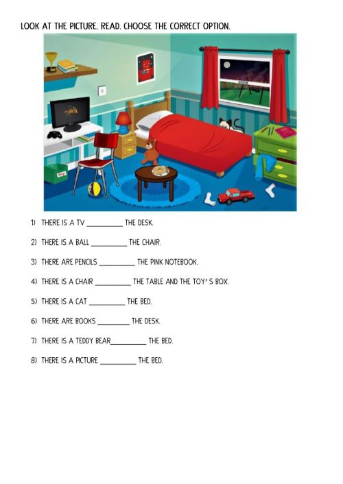 small resolution of Prepositions of place online exercise for 3rd grade