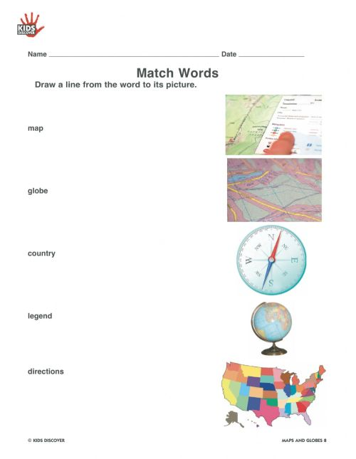 small resolution of Maps globes worksheet