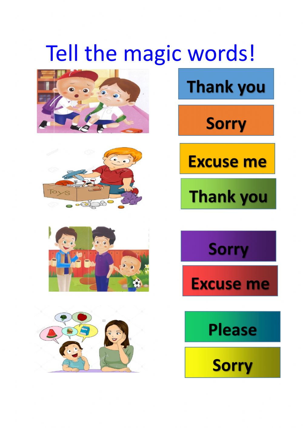 hight resolution of Polite expressions interactive worksheet