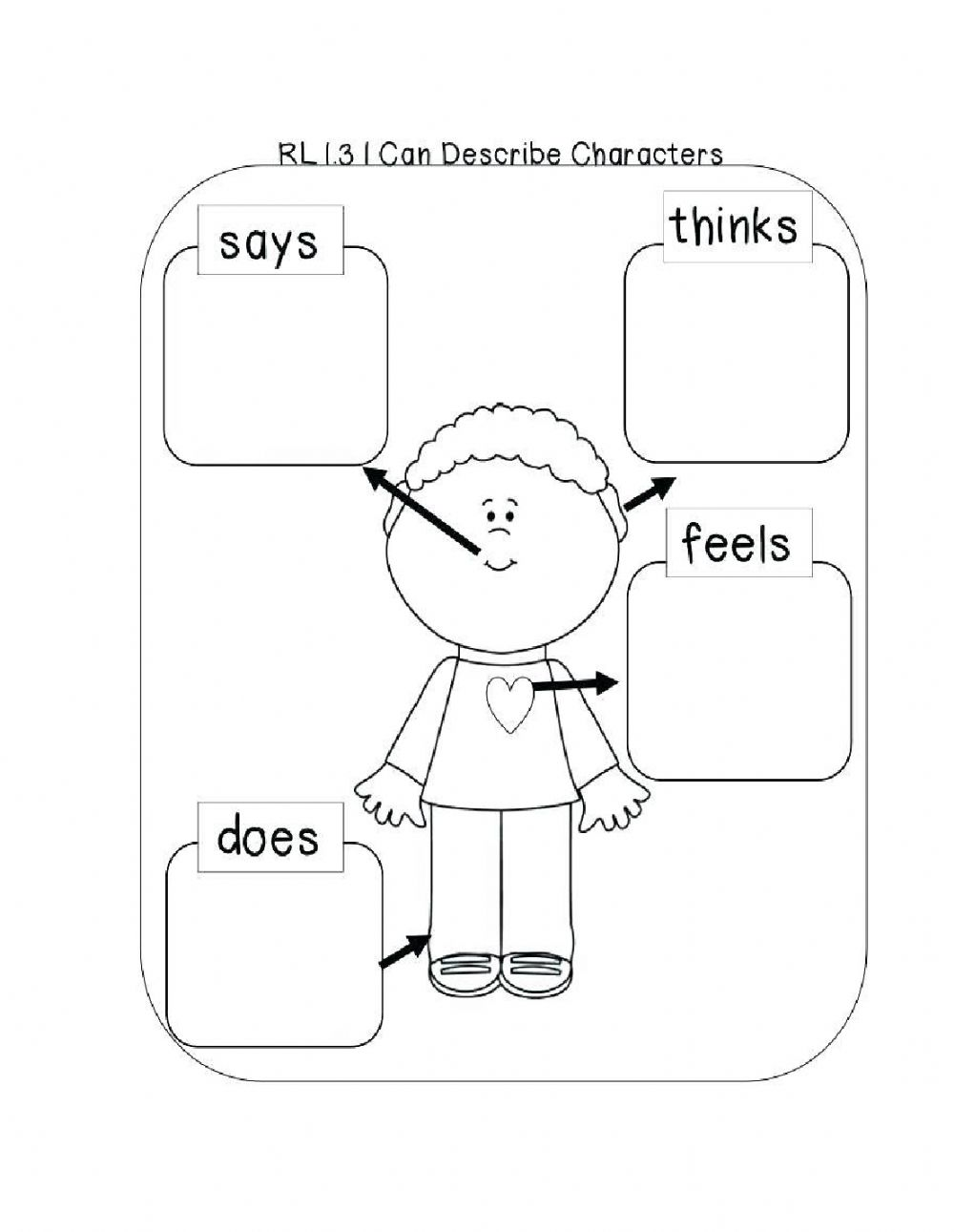 hight resolution of Character Trait Graphic Organizer worksheet
