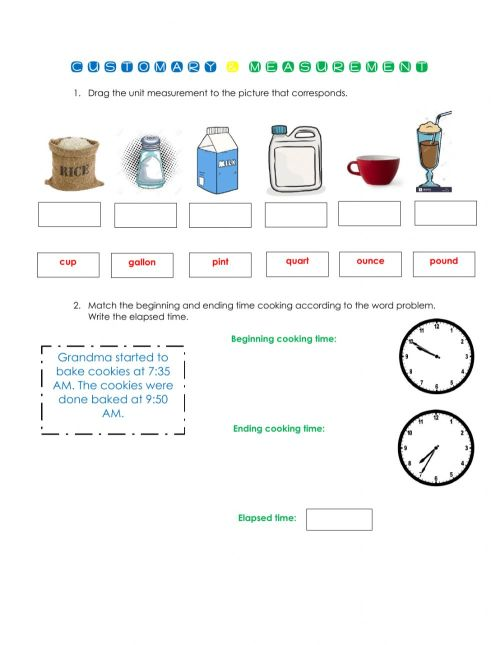 small resolution of Units of measurement worksheet