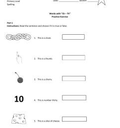 Practice Exercise words with th and ch worksheet [ 1291 x 1000 Pixel ]