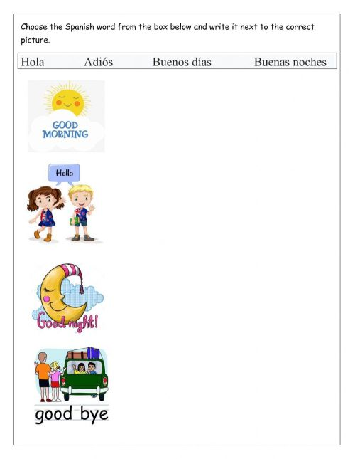 small resolution of Greetings interactive worksheet for Grade 1 \u0026 2