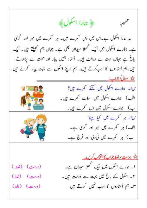 small resolution of Tafheem activity