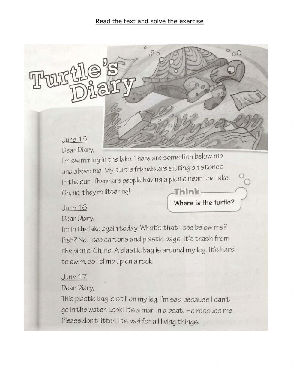 hight resolution of Turtle-s Diary worksheet