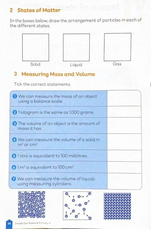 small resolution of States of Matter online worksheet for Grade 4