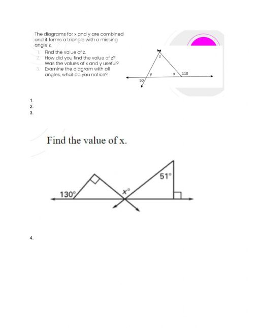 small resolution of Angles and Triangles Review worksheet