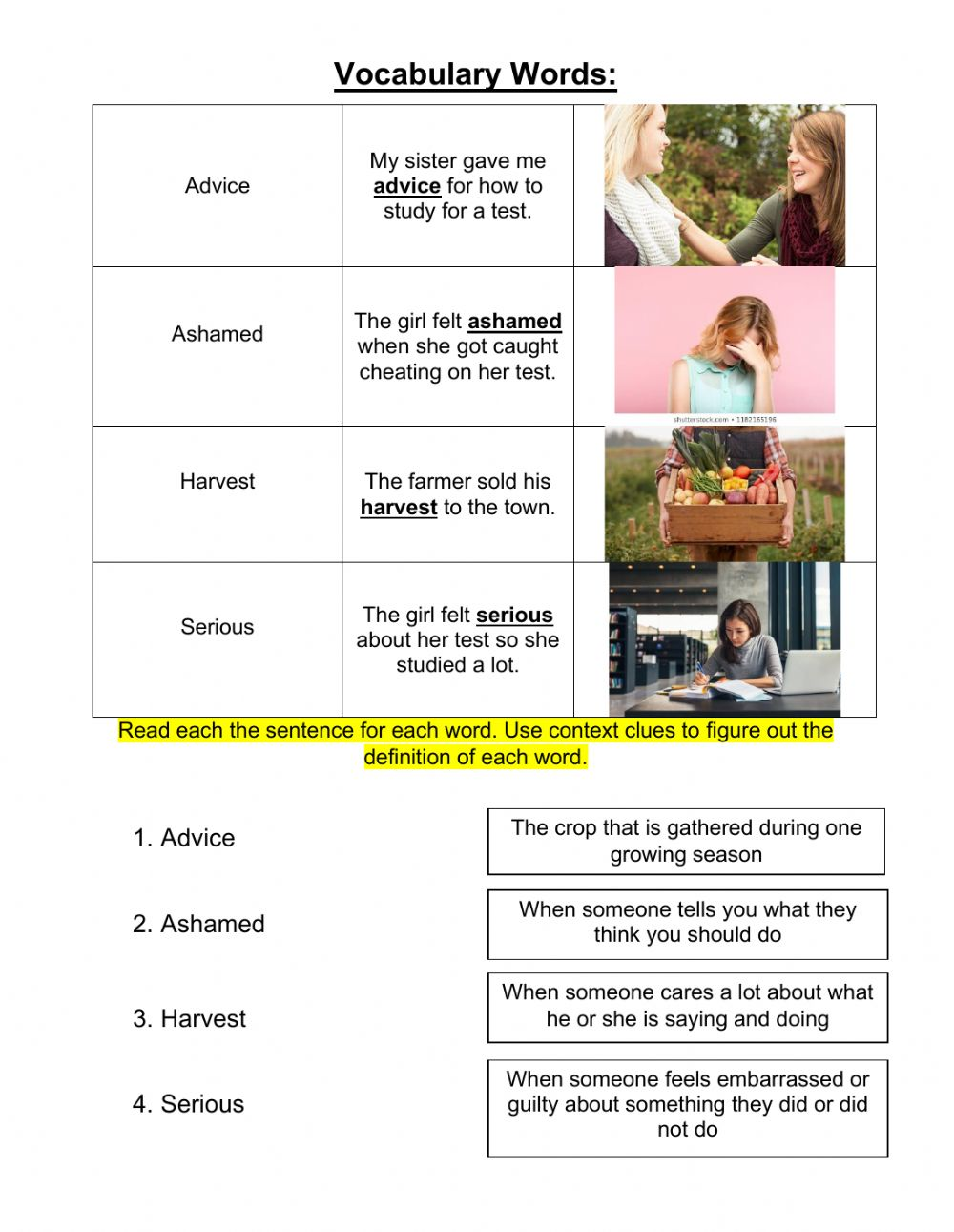 medium resolution of Grade 3 Lesson 8 Context Clues 1 worksheet