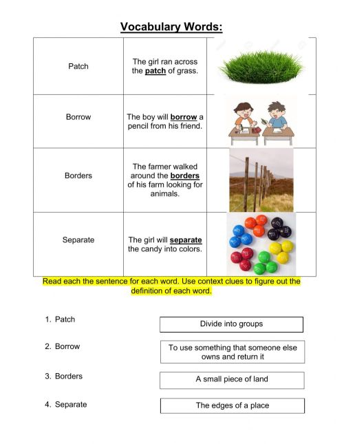 small resolution of Grade 3 Context Clues Lesson 8 pt 2 worksheet