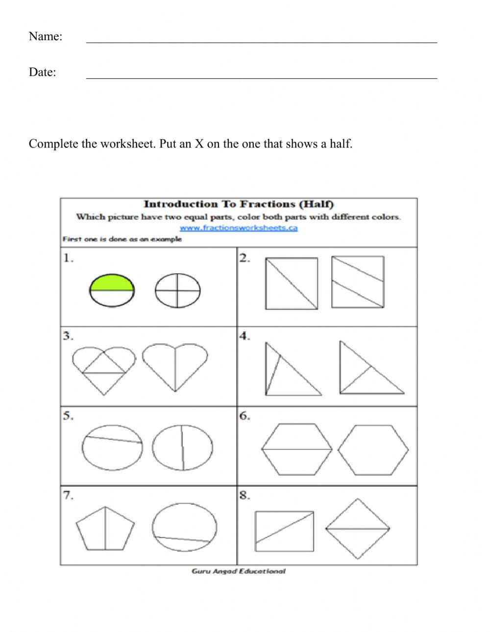 hight resolution of Number exercise for Grade 1