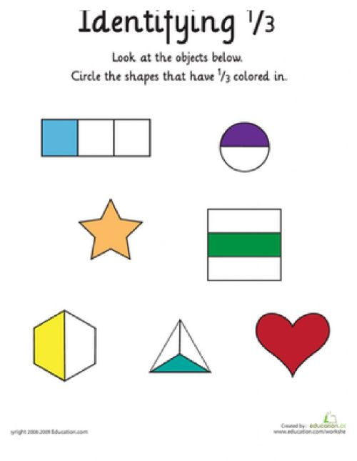 small resolution of Fractions online worksheet for grade 2
