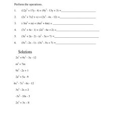 Addition and subtraction of polynomials interactive worksheet [ 1291 x 1000 Pixel ]