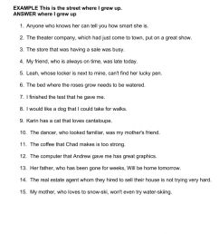 PRACTICE 15.2B Identifying Adjectival Clauses worksheet [ 1413 x 1000 Pixel ]