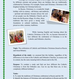 Christmas: Catholic and Orthodox worksheet [ 1413 x 1000 Pixel ]