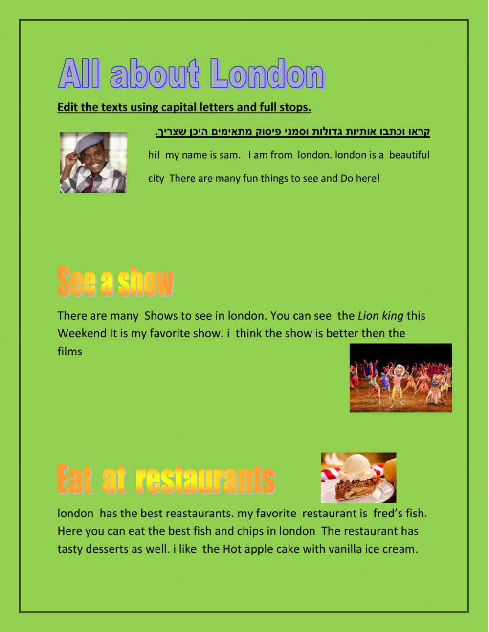 hight resolution of Punctuation online activity for 6th