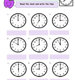 Telling Time online exercise for Grade 3 [ 1413 x 1000 Pixel ]