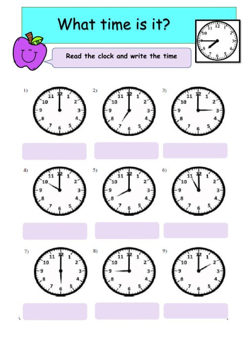 small resolution of Telling Time online exercise for Grade 3