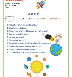 Fact and opinion about space worksheet [ 1291 x 1000 Pixel ]