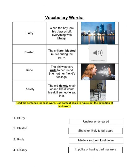 small resolution of Grade 3 Context Clues Lesson 9 pt 2 worksheet