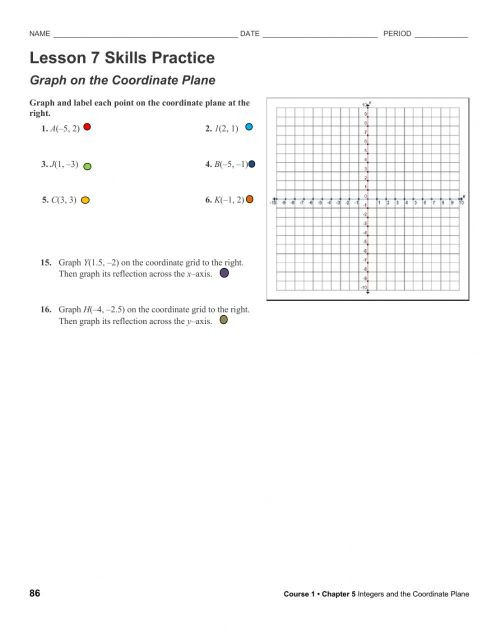 small resolution of Graph coordinate plane worksheet