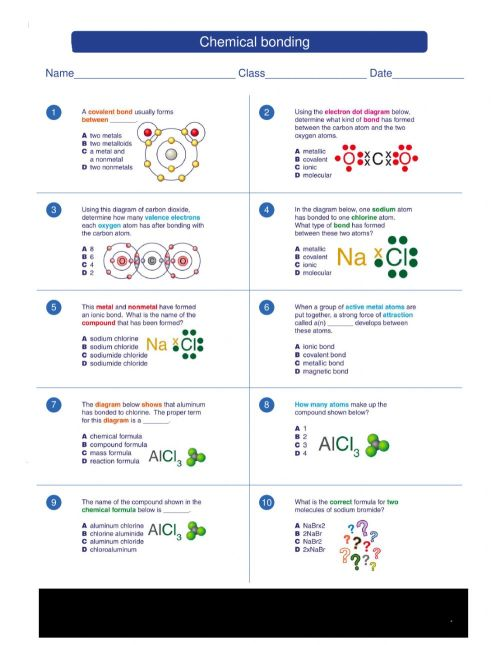 small resolution of Chemical bonding activity