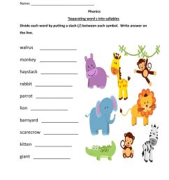 Splitting Words Into Syllables Worksheets [ 1291 x 1000 Pixel ]